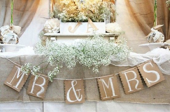 Burlap Wedding Decor