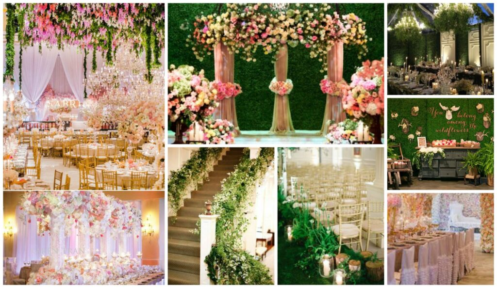 Wedding decor bring the outside in perfect details for Home garden wedding decorations