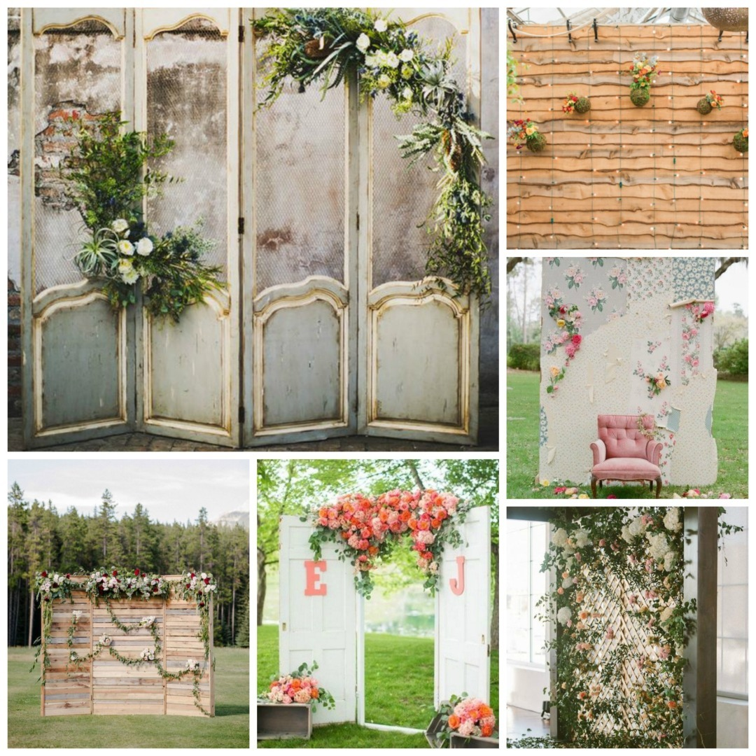 Wedding backdrops perfect details diy wedding project rustic chic solutioingenieria Images