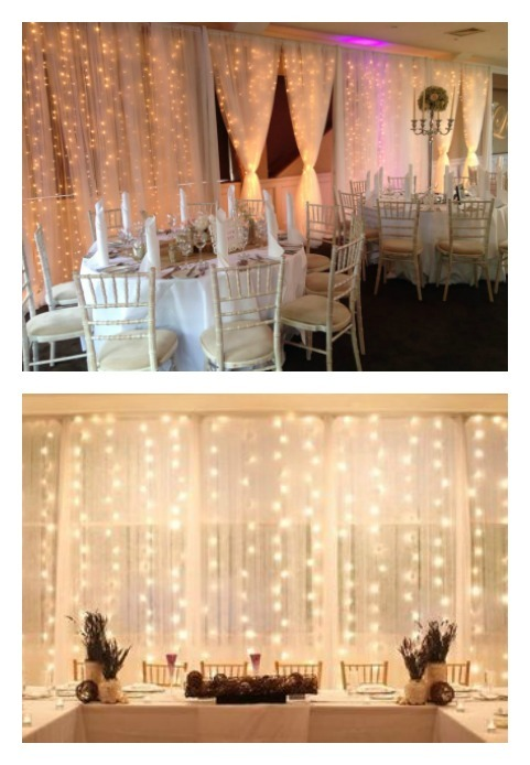 Wedding String Up Lights Perfect Details