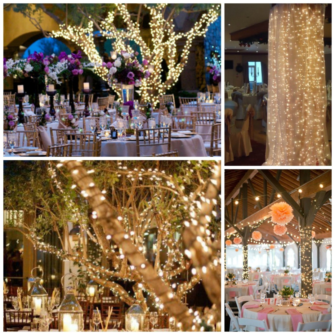 Of Course If You Re Having Your Reception Outside Or Have An Section Then Think About Wrapping String Lights On Branches And Trees Too Wrap Around