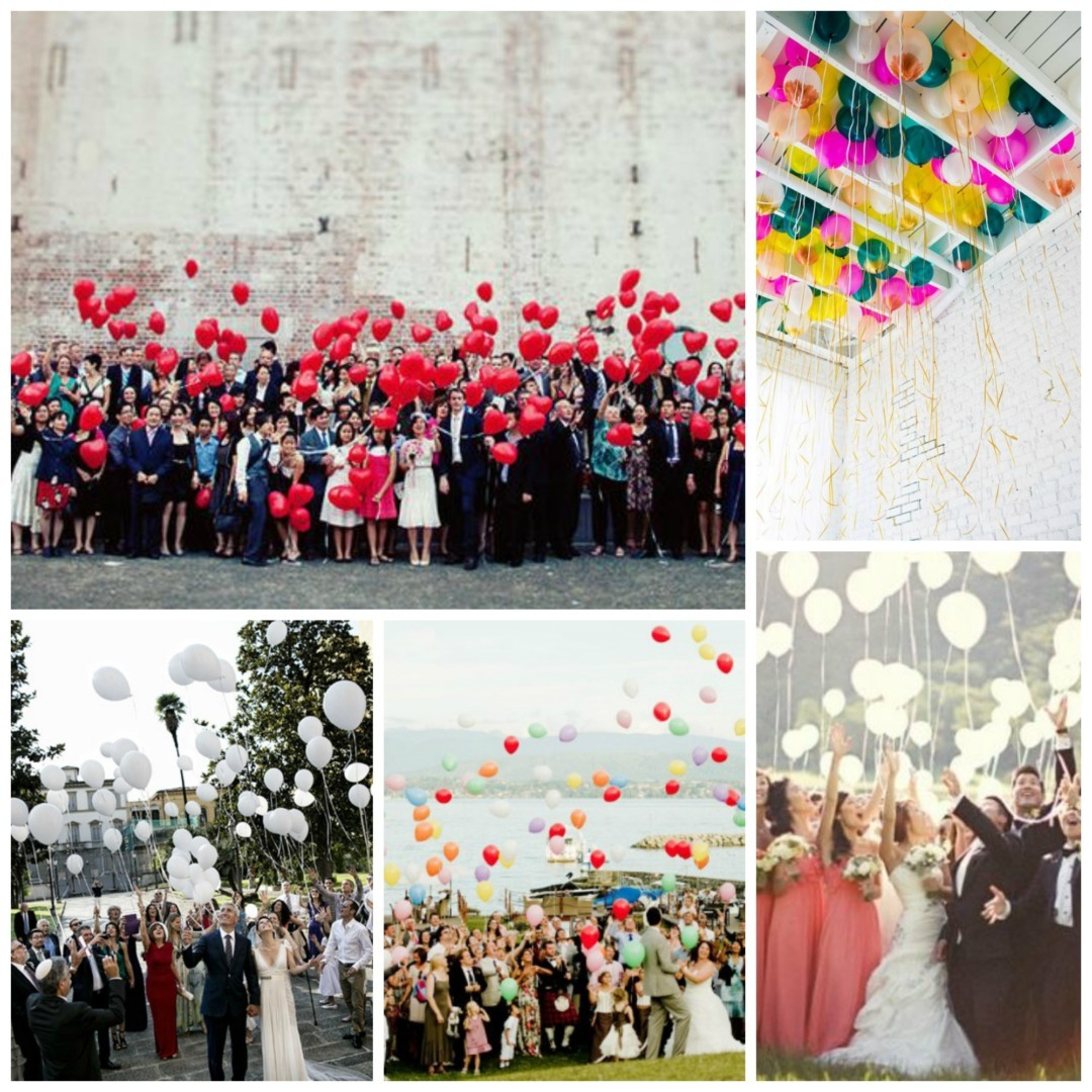 Balloon burst wedding