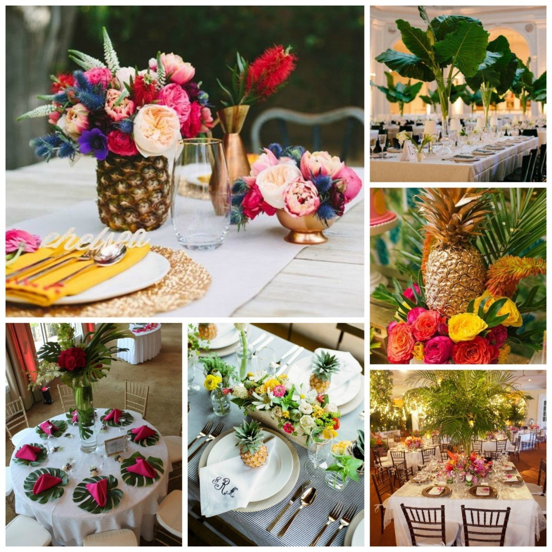 Tropical wedding theme perfect details for Decoration avec des roses
