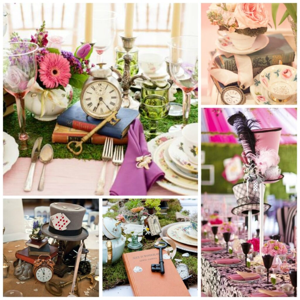 Centerpieces archives perfect details for Alice in wonderland decoration