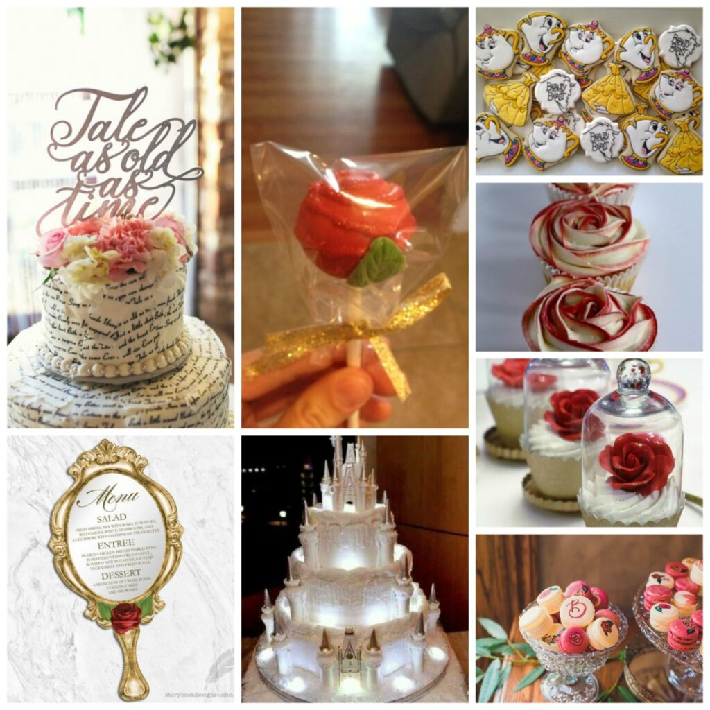 Or Keep Things Simple With A Beauty And The Beast Inspired Cake Topper Enchanted Mirror Was Another Feature In Film It Would Be An Ideal