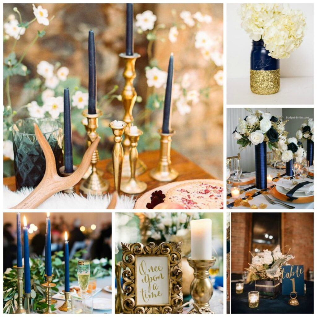 Antique Gold and Dusky Blue Wedding Theme - Perfect Details