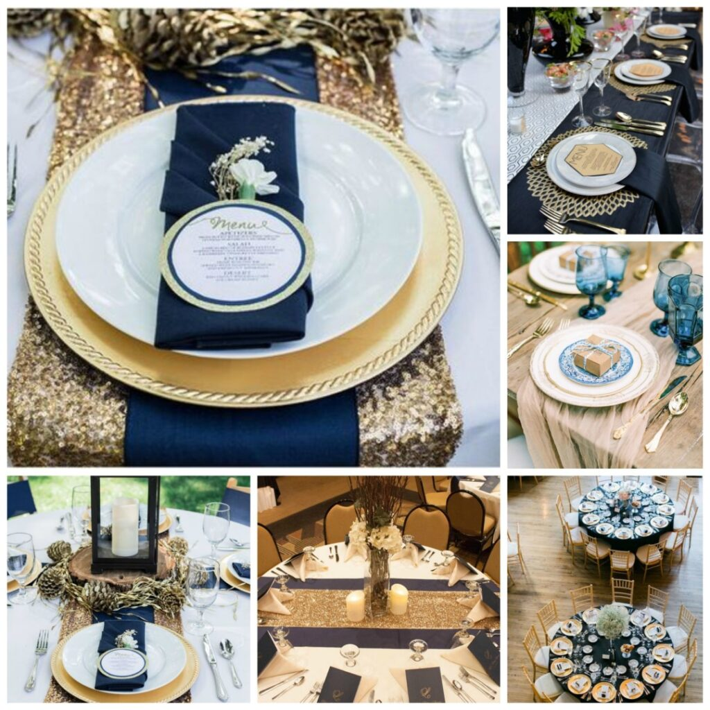 Antique Gold And Dusky Blue Wedding Theme Perfect Details