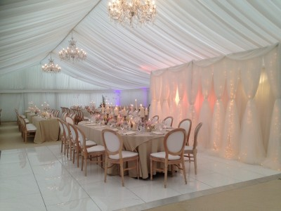Top table Marquee decor