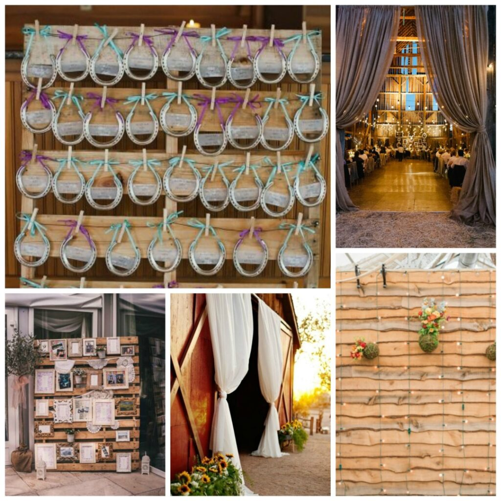 backdrops and table plans