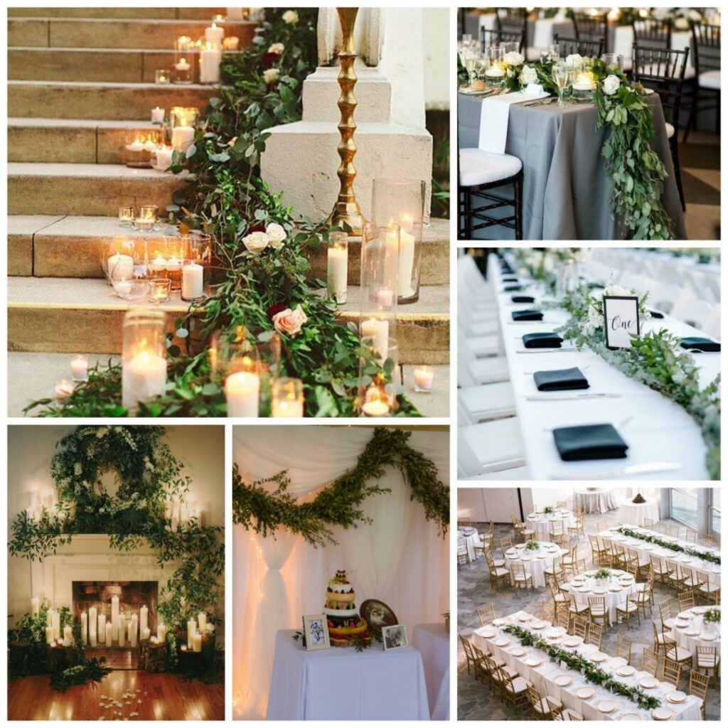 green and white wedding theme - perfect details